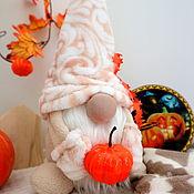 Куклы и игрушки handmade. Livemaster - original item Autumn Plush Dwarf Interior Toy, Dwarf Housewarming Gift. Handmade.