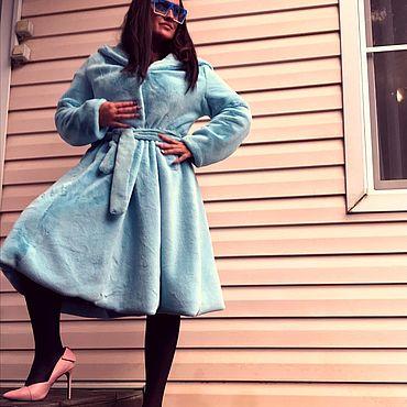 Одежда ручной работы. Ярмарка Мастеров - ручная работа Экошуба с расклешеной юбочкой. Handmade.