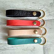 Аксессуары handmade. Livemaster - original item housekeeper leather. Leather keychain. Handmade.