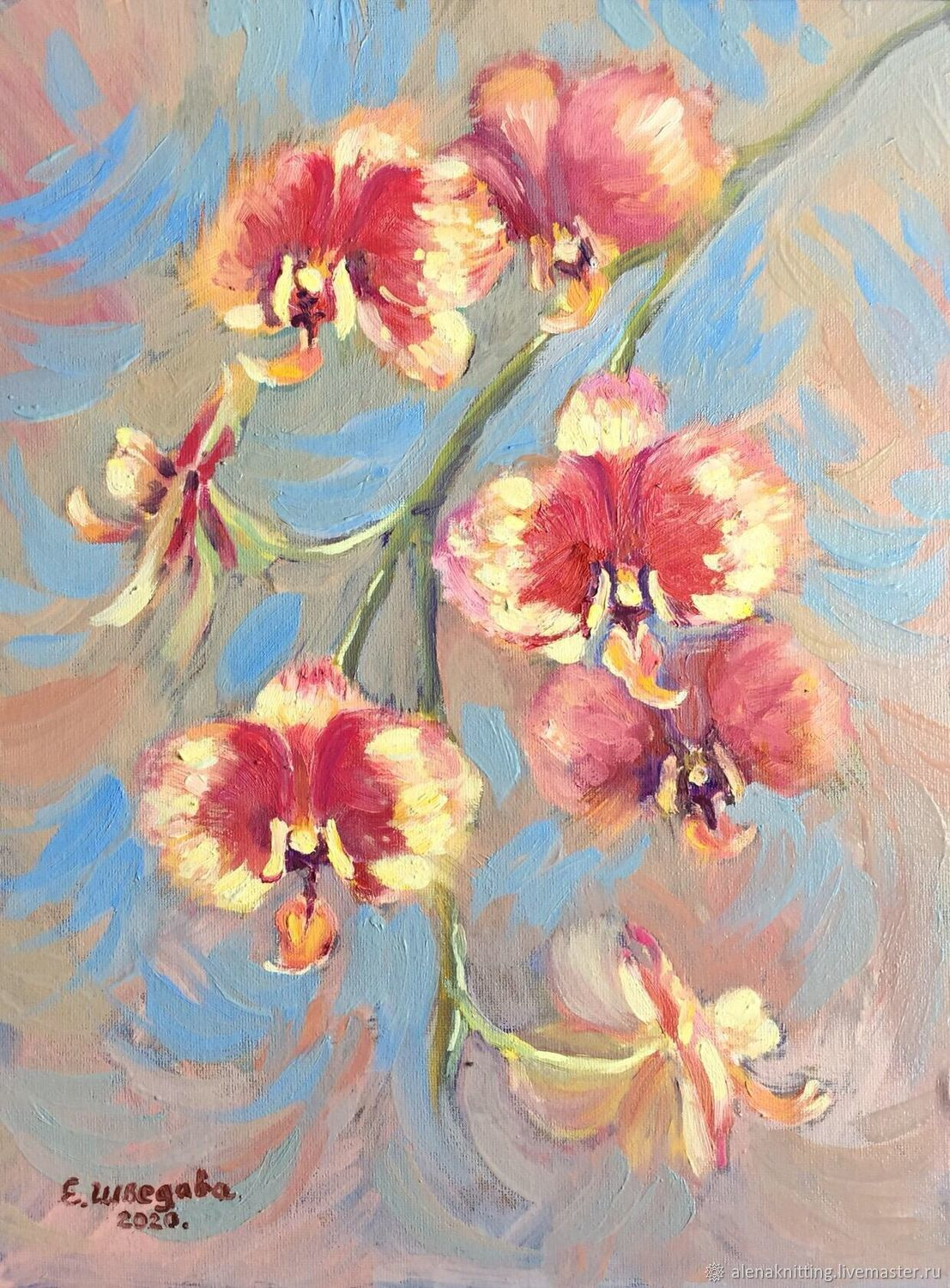 Oil painting 'Orchids», Pictures, Moscow,  Фото №1