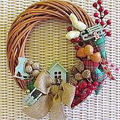 Куклы и игрушки ручной работы. Ярмарка Мастеров - ручная работа Рождественский венок (25 см). Handmade.