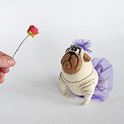 Куклы и игрушки handmade. Livemaster - original item Knitted toy dog,Easter gift. Handmade.
