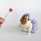 Stuffed Toys handmade. Livemaster - original item Knitted toy dog,Easter gift. Handmade.