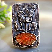 """Украшения ручной работы. Ярмарка Мастеров - ручная работа Кольцо """"Солнечный цветок"""" -  cолнечный камень, серебро. Handmade."""
