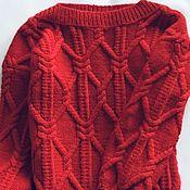 Одежда handmade. Livemaster - original item Sweater with braids and a wide collar. Handmade.