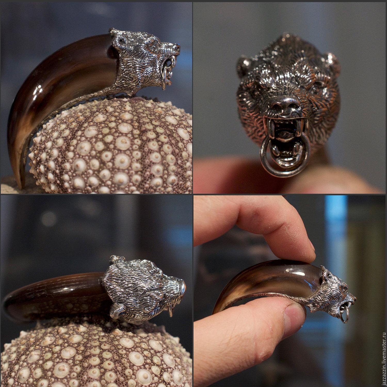Pendants handmade. Livemaster - handmade. Buy Bear claw pendant.Silver, tooth