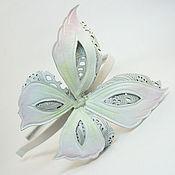 Украшения handmade. Livemaster - original item the colors of the skin. decoration hair headband openwork butterfly. Handmade.