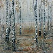 Картины и панно ручной работы. Ярмарка Мастеров - ручная работа Осенние берёзки. Handmade.