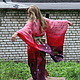 Этническая одежда ручной работы. Кимоно «Порфировый ветер». Мария Герасимова. Ярмарка Мастеров. Подарок девушке, ручная роспись по ткани