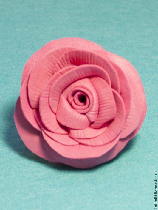 Броши ручной работы. Ярмарка Мастеров - ручная работа. Купить Заколка для волос Роза из фоамирана. Handmade. Брошь