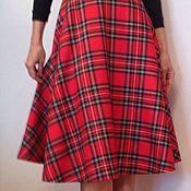 Одежда ручной работы. Ярмарка Мастеров - ручная работа Шерстяная юбка полусолнце. Handmade.