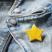 """Украшения ручной работы. Ярмарка Мастеров - ручная работа Брошь """"Моя звезда"""" из серии: Простые люди. Простые вещи.. Handmade."""
