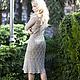 "Платья ручной работы. платье ""Барокко"". Jannetta knits  Luxury handmade. Ярмарка Мастеров. Вязаное платье, шёлк"