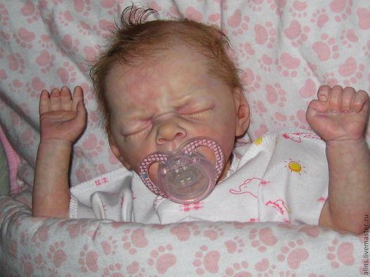 Куклы-младенцы и reborn ручной работы. Ярмарка Мастеров - ручная работа. Купить Малышка Ви зевает.. Handmade. Бежевый