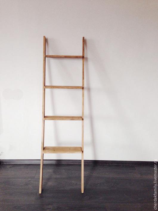 Мебель ручной работы. Ярмарка Мастеров - ручная работа. Купить Стеллаж лестница. Handmade. Коричневый, стеллаж, полки, детская комната