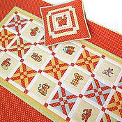 Для дома и интерьера ручной работы. Ярмарка Мастеров - ручная работа Оранжевое детское лоскутное одеяло Кошки-Мышки. Handmade.