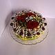 """Букеты ручной работы. Ярмарка Мастеров - ручная работа. Купить Торт из живых цветов, ягод и конфет """"Солнечное утро"""". Handmade."""
