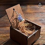 Украшения ручной работы. Ярмарка Мастеров - ручная работа Кристаллоклетка - кулон с природным кристаллом танзанита. Handmade.