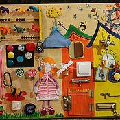 Куклы и игрушки ручной работы. Ярмарка Мастеров - ручная работа Развивающая доска,бизиборд. Handmade.