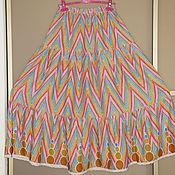 Одежда ручной работы. Ярмарка Мастеров - ручная работа Юбка ярусная из штапеля. Handmade.