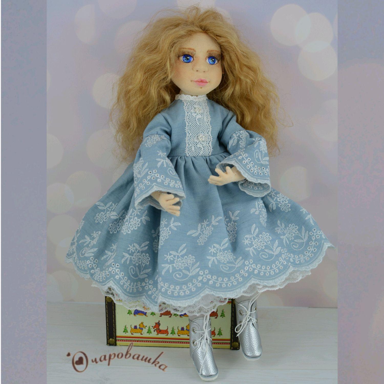 Шарнирная текстильная куколка, Интерьерная кукла, Чита,  Фото №1