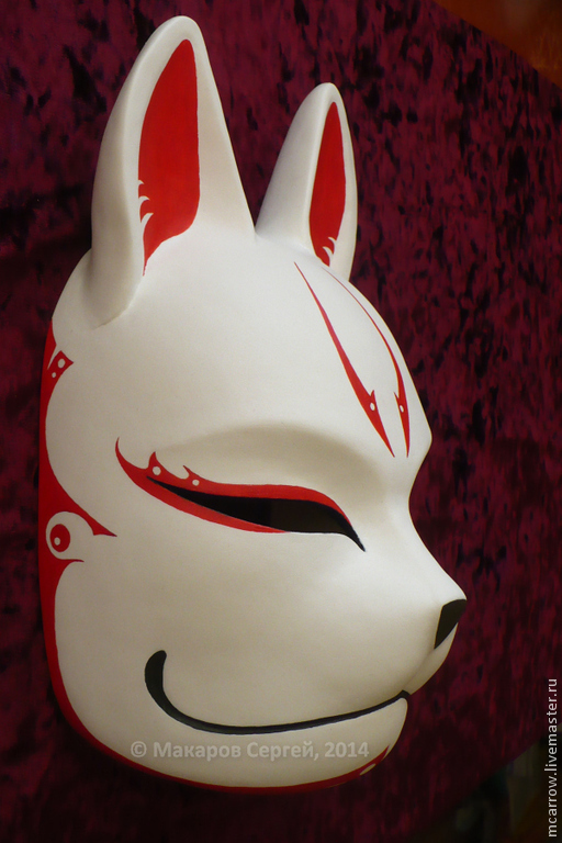 Маска Кицунэ (Kitsune), роспись версии 1.0