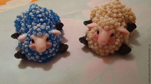 Мыло ручной работы. Ярмарка Мастеров - ручная работа. Купить милые овечки. Handmade. Разноцветный, Основа crystal sls free