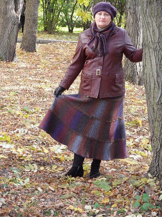 Юбки ручной работы. Ярмарка Мастеров - ручная работа. Купить юбка ОСЕННЯЯ РАДУГА Готовая работа. Handmade. Женская одежда