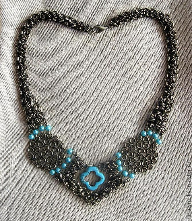 Openwork necklace with turquoise accents Inspiration, Necklace, St. Petersburg,  Фото №1
