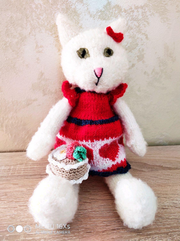 Кошка- мягкая игрушка ручной работы  для малышей , возможно вышить имя, Мягкие игрушки, Тирасполь,  Фото №1