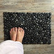Для дома и интерьера handmade. Livemaster - original item A Mat of pebbles EcoMat, Black