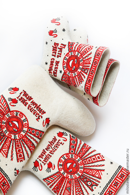 """Обувь ручной работы. Ярмарка Мастеров - ручная работа. Купить Комплект """"Солнышко лучистое"""". Handmade. Ярко-красный, солнце"""