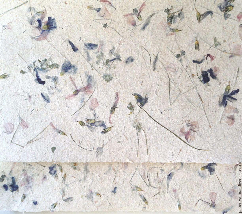 `Корзина с цветочками` бумага ручной работы