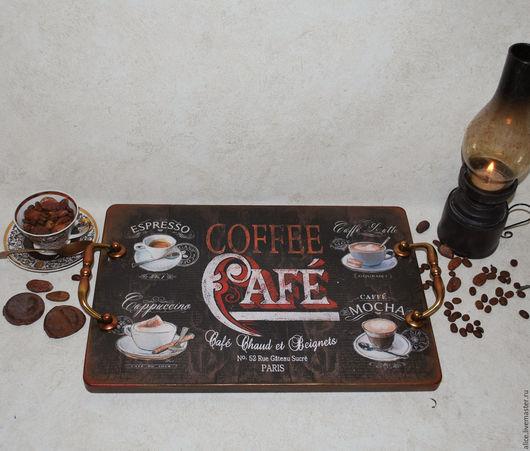 Кухня ручной работы. Ярмарка Мастеров - ручная работа. Купить CAFE  поднос. Handmade. Черный, подарок на любой случай