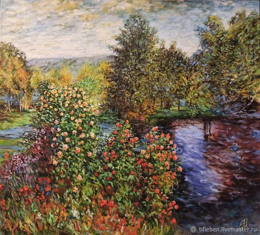 Картина маслом Моне  Уголок сада в Монжероне, Картины, Санкт-Петербург,  Фото №1