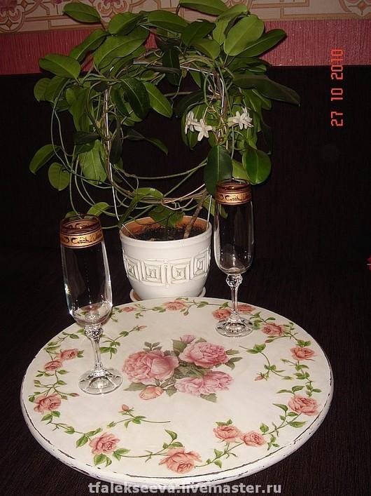 Кухня ручной работы. Ярмарка Мастеров - ручная работа. Купить Вращающийся  столик-поднос. Handmade. Вращающийся поднос, шебби-шик