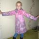 """Для подростков, ручной работы. Ярмарка Мастеров - ручная работа. Купить Детское пальто """"В розовых мечтах"""". Handmade. Розовый"""