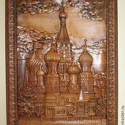 Картины ручной работы. Ярмарка Мастеров - ручная работа Картина резная: Покровский Собор. Handmade.