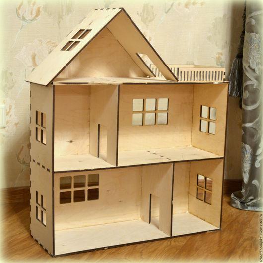 Кукольный дом ручной работы. Ярмарка Мастеров - ручная работа. Купить Кукольный домик. Большой. Деревянный. Handmade. Домик