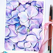 Картины и панно handmade. Livemaster - original item Watercolor Hydrangea buy a gift on March 8. Handmade.