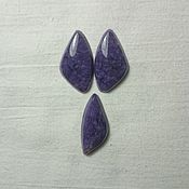 handmade. Livemaster - original item cabochons from charoite backless. Handmade.