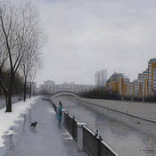 Картины и панно handmade. Livemaster - original item Reproductions of paintings buy Moscow hospital embankment. Handmade.