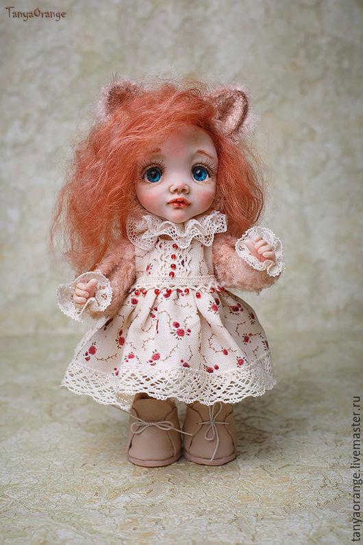 Коллекционные куклы ручной работы. Ярмарка Мастеров - ручная работа. Купить Тедди Долл маленькая кошечка Алиса. Handmade.