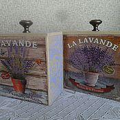 """Для дома и интерьера ручной работы. Ярмарка Мастеров - ручная работа короб под сыпучие продукты """"Лаванда"""". Handmade."""