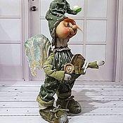 Dolls handmade. Livemaster - original item Doll collectible textile interior Mr. Pea