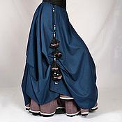 Одежда ручной работы. Ярмарка Мастеров - ручная работа Красивая зимняя юбка цвета морской волны из теплой шерсти (70% шерсть). Handmade.