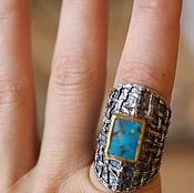 Украшения ручной работы. Ярмарка Мастеров - ручная работа 18.2  распродажа  бирюза  кольцо серебряное. Handmade.