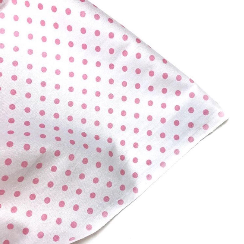 Ткань хлопок Розовый горошек 4мм на белом. Сатин. 100% хлопок, Ткани, Москва,  Фото №1