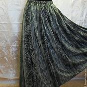 Одежда ручной работы. Ярмарка Мастеров - ручная работа Юбка длинная,на резинке,из трикотажа,на подкладке.. Handmade.