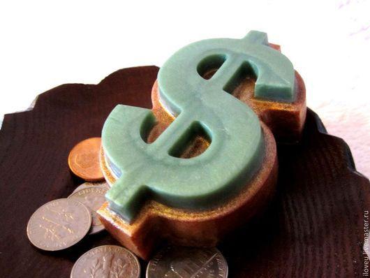 """Мыло ручной работы. Ярмарка Мастеров - ручная работа. Купить Мыло """"Доллар"""", подарок мужчине, подарки на 23 февраля, деньги, зеленый. Handmade."""
